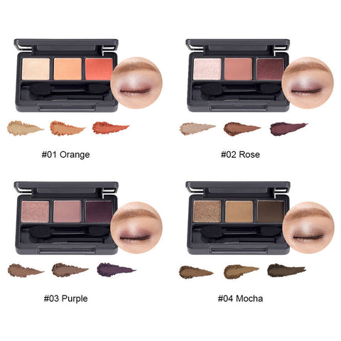 Triple Eyes Shadow Palettes ( #2 Rose/ #3 Purple/ #4 Mocha) - Shop Amabie: For the best Korean beauty best, Korean skincare, Japanese beauty, Japanese skincare, Taiwanese beauty, Taiwanese skincare