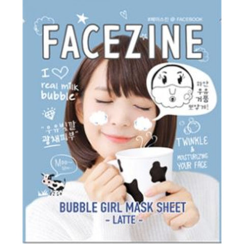 Bubble Girl Mask Sheet Latte - Shop Amabie: For the best Korean beauty best, Korean skincare, Japanese beauty, Japanese skincare, Taiwanese beauty, Taiwanese skincare