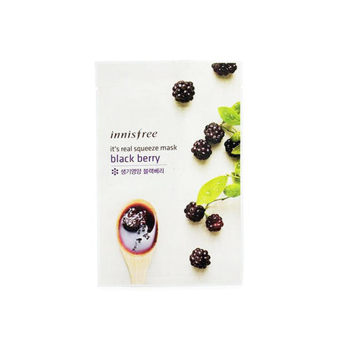 It's Real Squeeze Mask - Blackberry Mask - Shop Amabie: For the best Korean beauty best, Korean skincare, Japanese beauty, Japanese skincare, Taiwanese beauty, Taiwanese skincare