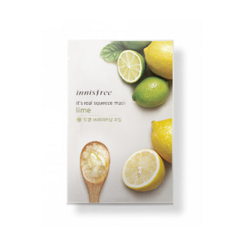 It's Real Squeeze Mask - Lime Mask - Shop Amabie: For the best Korean beauty best, Korean skincare, Japanese beauty, Japanese skincare, Taiwanese beauty, Taiwanese skincare