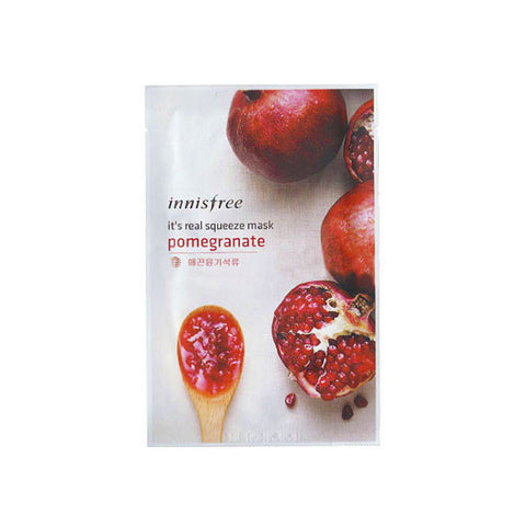 It's Real Squeeze Mask - Pomegranate Mask - Shop Amabie: For the best Korean beauty best, Korean skincare, Japanese beauty, Japanese skincare, Taiwanese beauty, Taiwanese skincare