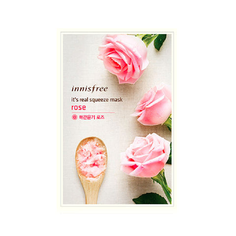 It's Real Squeeze Mask - Rose Mask - Shop Amabie: For the best Korean beauty best, Korean skincare, Japanese beauty, Japanese skincare, Taiwanese beauty, Taiwanese skincare
