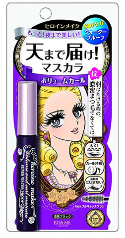 Heroine Make Volume & Curl Mascara Super Waterproof - Shop Amabie: For the best Korean beauty best, Korean skincare, Japanese beauty, Japanese skincare, Taiwanese beauty, Taiwanese skincare
