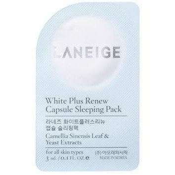 White Plus Renew Sleeping Pack (Single Packet) - Shop Amabie: For the best Korean beauty best, Korean skincare, Japanese beauty, Japanese skincare, Taiwanese beauty, Taiwanese skincare