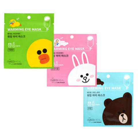 Line Friends Warming Eye Mask (Various) - Shop Amabie: For the best Korean beauty best, Korean skincare, Japanese beauty, Japanese skincare, Taiwanese beauty, Taiwanese skincare