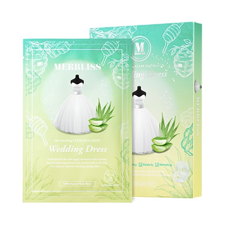 Wedding Dress Emerald Aloe Honey Soothing Sheet Mask Box Set