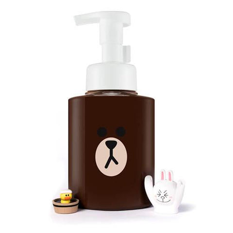 Line Friends Edition Brown Micro Bubble Foam (Lotus Seed) - Shop Amabie: For the best Korean beauty best, Korean skincare, Japanese beauty, Japanese skincare, Taiwanese beauty, Taiwanese skincare