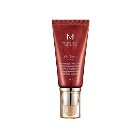 M Perfect Cover BB Cream - Shop Amabie: For the best Korean beauty best, Korean skincare, Japanese beauty, Japanese skincare, Taiwanese beauty, Taiwanese skincare
