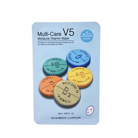 Multi Care V5 Moisture Vitamin Mask - Shop Amabie: For the best Korean beauty best, Korean skincare, Japanese beauty, Japanese skincare, Taiwanese beauty, Taiwanese skincare