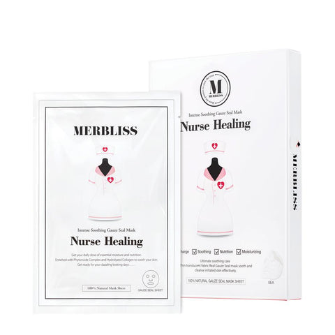 BOX SET Nurse Healing Gauze Seal Mask - Shop Amabie: For the best Korean beauty best, Korean skincare, Japanese beauty, Japanese skincare, Taiwanese beauty, Taiwanese skincare