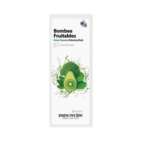 Bombee Fruitables Green Squeeze Relaxing Mask - Shop Amabie: For the best Korean beauty best, Korean skincare, Japanese beauty, Japanese skincare, Taiwanese beauty, Taiwanese skincare