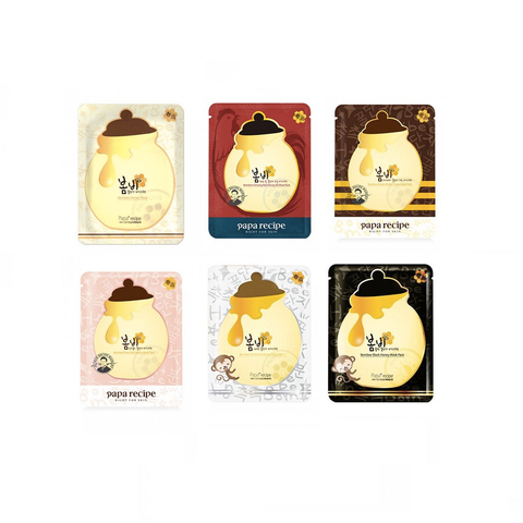 Papa Recipe Honey Variety Sheetmask Set - Shop Amabie: For the best Korean beauty best, Korean skincare, Japanese beauty, Japanese skincare, Taiwanese beauty, Taiwanese skincare