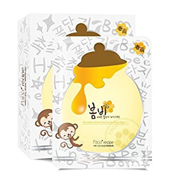 Box Set Bombee Whitening Honey Mask - Shop Amabie: For the best Korean beauty best, Korean skincare, Japanese beauty, Japanese skincare, Taiwanese beauty, Taiwanese skincare