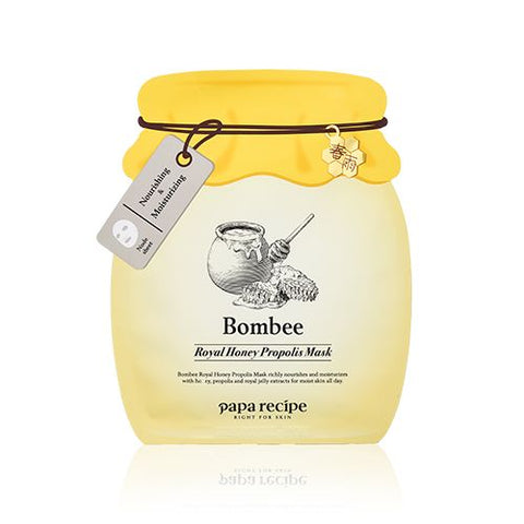 Bombee Royal Honey Propolis Mask - 4th Anniversary Limited Edition - Shop Amabie: For the best Korean beauty best, Korean skincare, Japanese beauty, Japanese skincare, Taiwanese beauty, Taiwanese skincare
