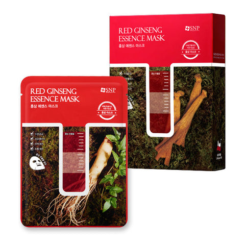BOX SET Red Ginseng Essence Mask: Moisturizing  (10 Masks) - Shop Amabie: For the best Korean beauty best, Korean skincare, Japanese beauty, Japanese skincare, Taiwanese beauty, Taiwanese skincare