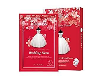 BOX SET Wedding Dress Ruby Mask - Shop Amabie: For the best Korean beauty best, Korean skincare, Japanese beauty, Japanese skincare, Taiwanese beauty, Taiwanese skincare