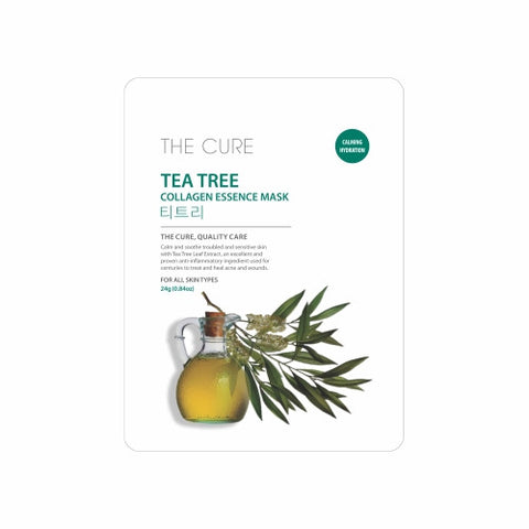 The Cure - Tea Tree Mask - Shop Amabie: For the best Korean beauty best, Korean skincare, Japanese beauty, Japanese skincare, Taiwanese beauty, Taiwanese skincare