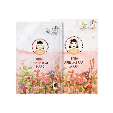 BOX SET Ultra Serum Leaf Mask (5 Masks) - Shop Amabie: For the best Korean beauty best, Korean skincare, Japanese beauty, Japanese skincare, Taiwanese beauty, Taiwanese skincare