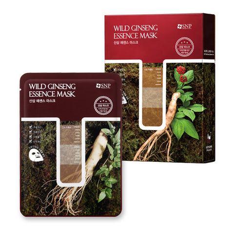 BOX SET Wild Ginseng Essence Mask: Anti-Aging (10 Masks) - Shop Amabie: For the best Korean beauty best, Korean skincare, Japanese beauty, Japanese skincare, Taiwanese beauty, Taiwanese skincare