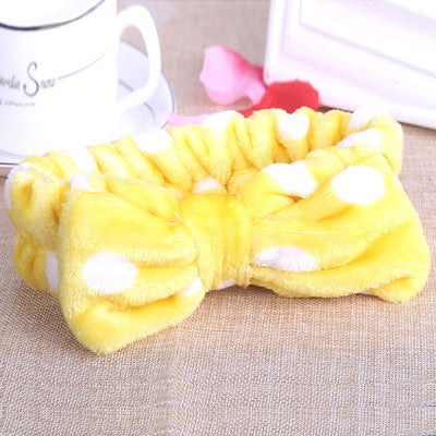 Fluffy Bow Headbands - Shop Amabie: For the best Korean beauty best, Korean skincare, Japanese beauty, Japanese skincare, Taiwanese beauty, Taiwanese skincare