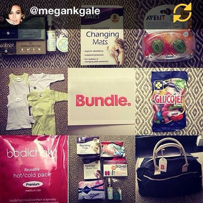 Megan Gale loves her pre-packed Bundle Maternity Bag