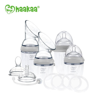 Haakaa Generation 3 Premium Breast Pump and Bottle Pack - Pre-Packed Maternity Hospital Bags - Bundle