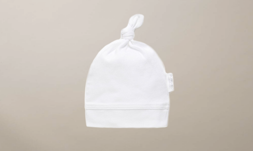 Purebaby Organic Cotton Knot Hat - Pre-Packed Maternity Hospital Bags - Bundle