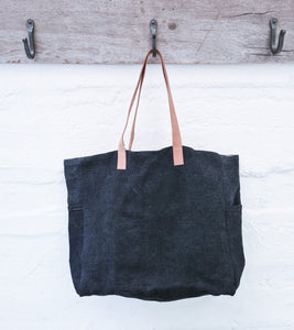 Charcoal - Washed Canvas Tote Bag