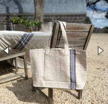 Load image into Gallery viewer, Denim Stripe - Tote Bag