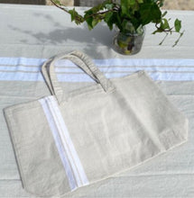 Load image into Gallery viewer, White Stripe - Tote Bag