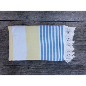 Coningham Beach - Double sided Turkish Terry Towel Turkish Towel