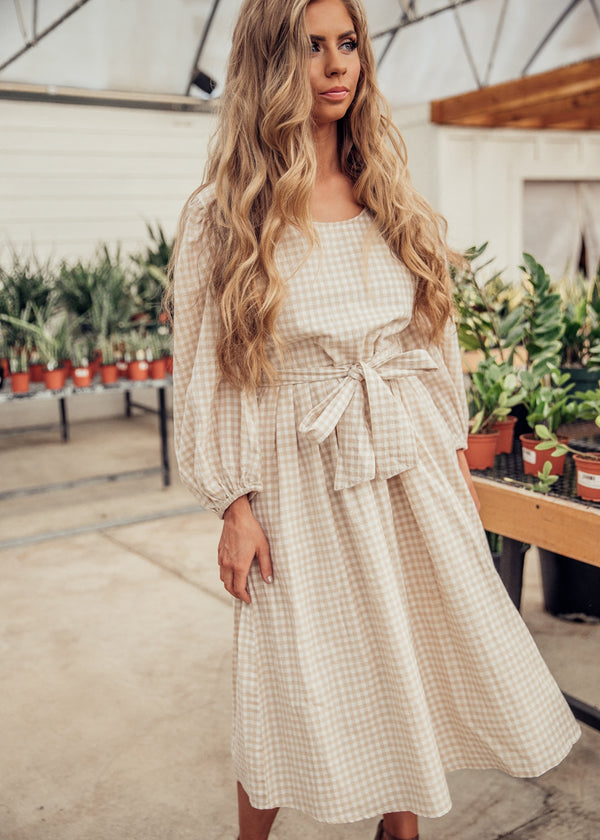 In The Clouds Gingham Dress