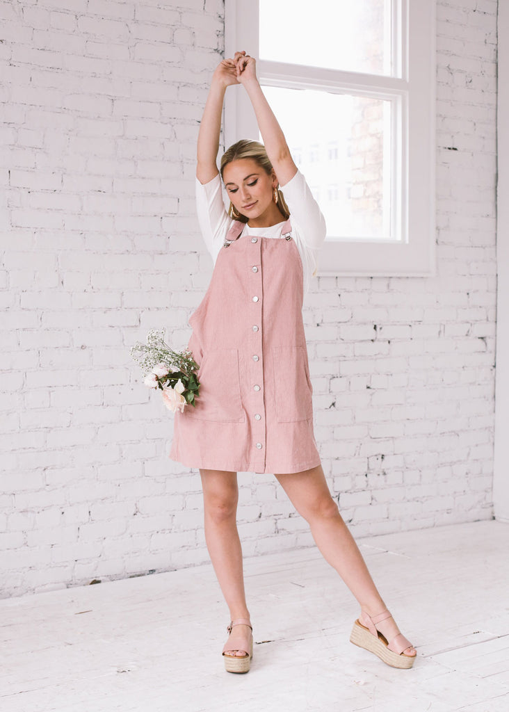 Billie Corduroy Dress in Mauve