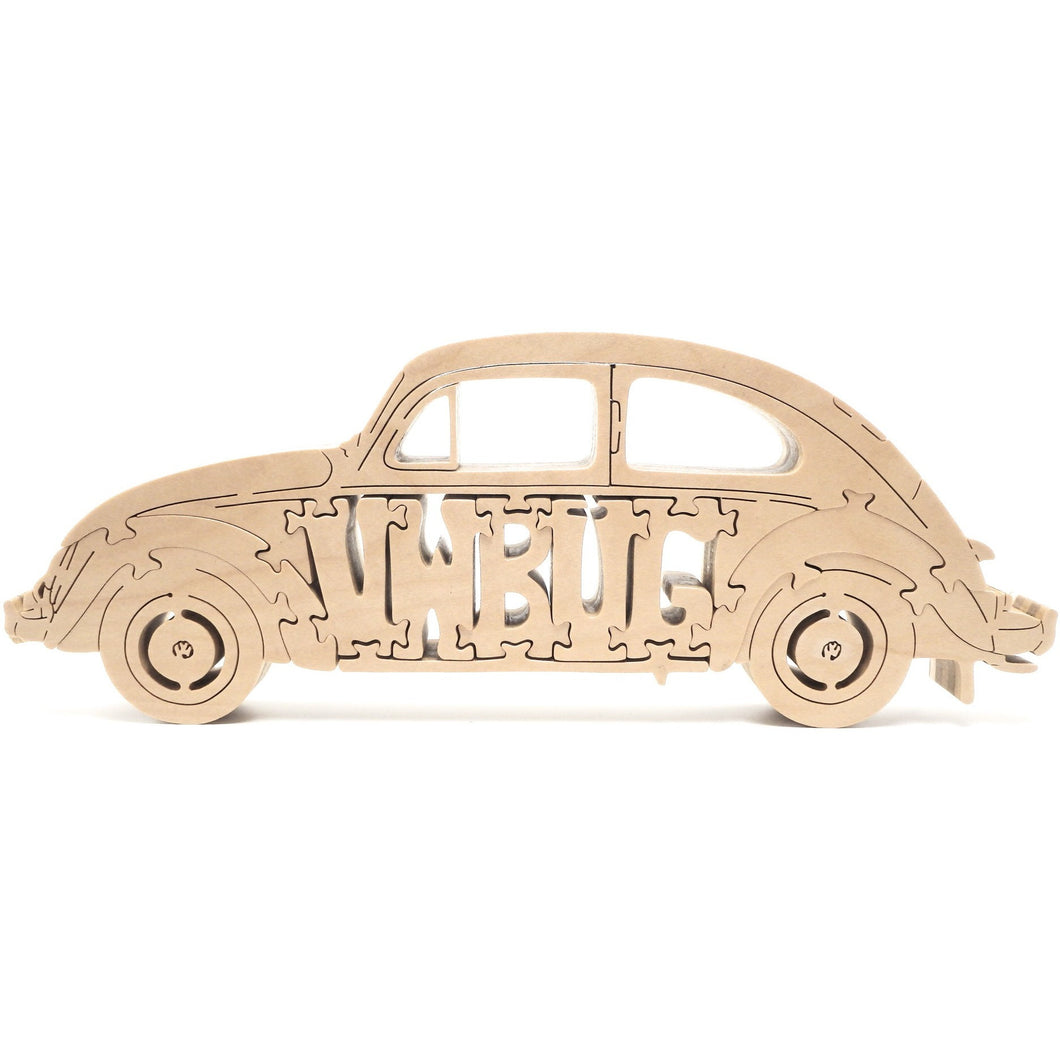 Hand Made Wooden VW Bug Puzzle
