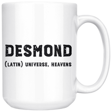 Desmond Name Meaning Mug - 15oz Coffee Cup - Birthday Gift for Man - Personalized Office Mug - Husband Dad Granddad Gift Idea - LetterLuxe