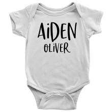 Personalized Name Baby Bodysuit - Custom Onesie - Baby Shower Gift - Pregnancy Announcement - Newborn Baby Gift - LetterLuxe