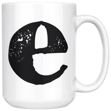 Lower Case E Initial Mug - 15oz Ceramic Cup - Nephew Gift Mug - Right-Handed or Left-Handed Mug - LetterLuxe
