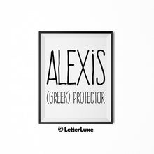 Alexis Name Meaning Wall Art - Printable Bedroom Decor - Cubicle Decoration - Birthday Party Gift