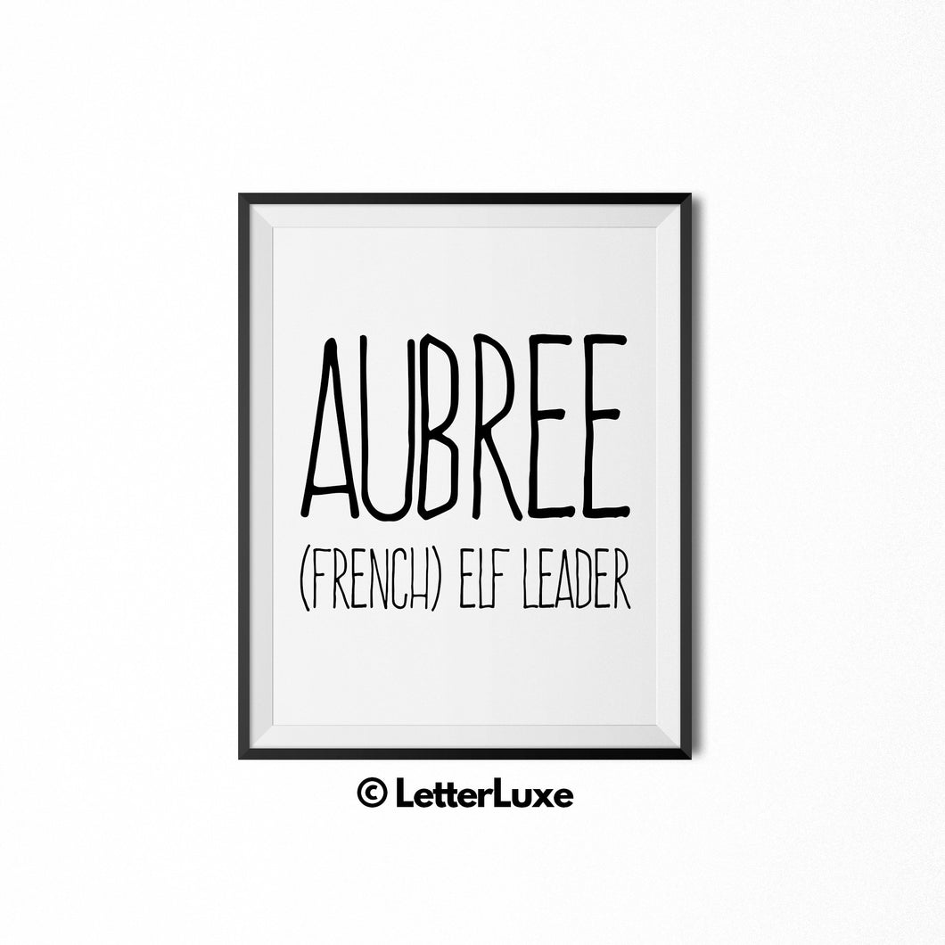 Aubree Printable Bedroom Decor - Birthday Party Decoration Instant Download - LetterLuxe