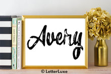 Avery Name Art - Printable Gallery Wall - Romantic Bedroom Decor - Living Room Printable - Last Minute Gift for Mom or Girlfriend - LetterLuxe