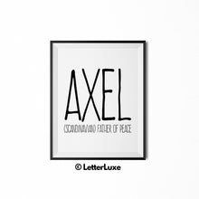 Axel Printable Kids Decor - Birthday Party Decoration Idea - LetterLuxe