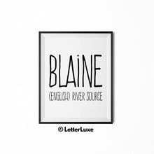 Blaine Printable Kids Gift - Name Meaning Art