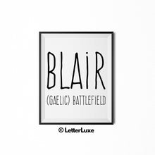 Blair Printable Bedroom Decor - Birthday Gift Idea for Women, Girl, Sister, Daughter, Mom - LetterLuxe