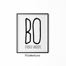Bo Name Definition - Printable Nursery Wall Art