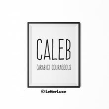 Caleb Personalized Nursery Decor - Baby Shower Decorations - LetterLuxe