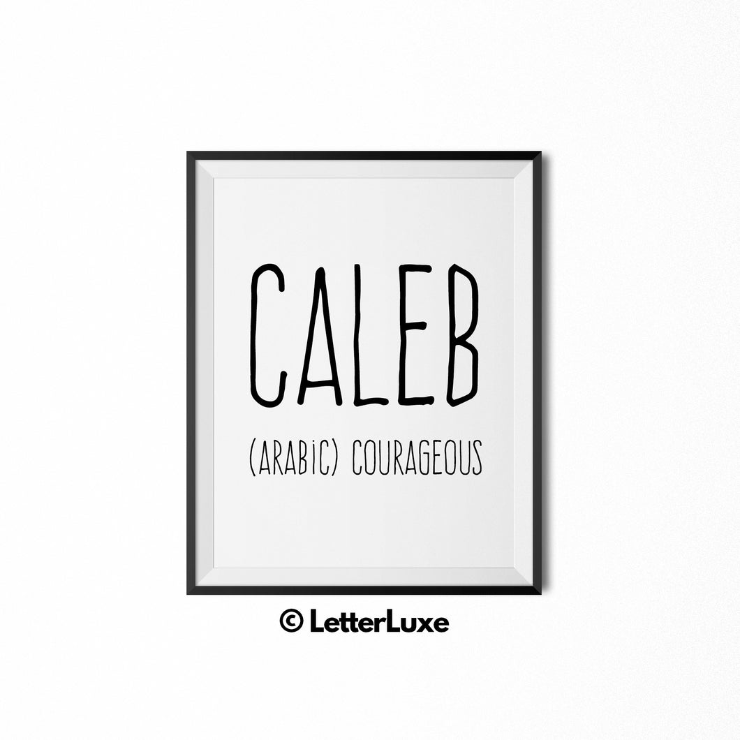 Caleb Personalized Nursery Decor - Baby Shower Decorations