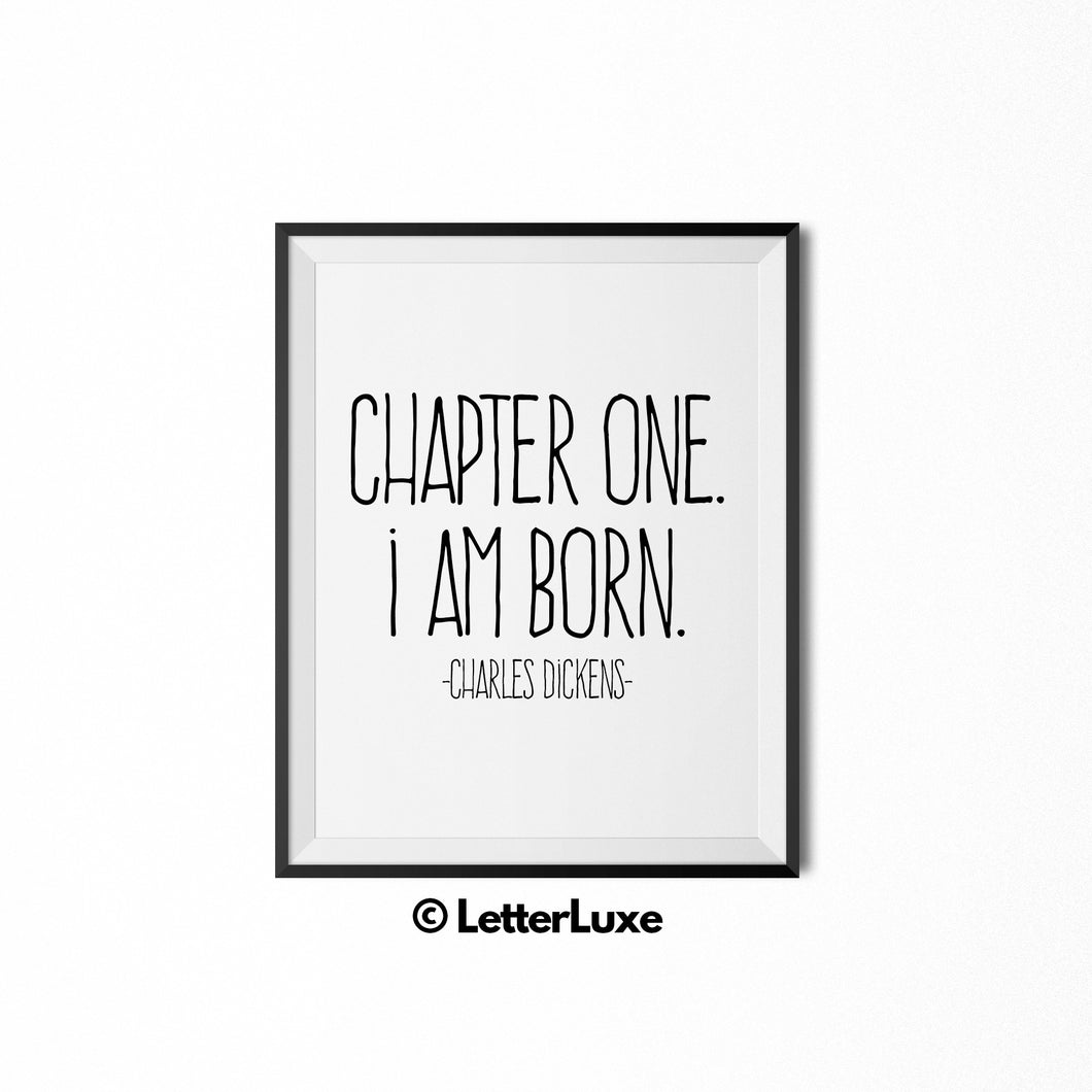 Literary Baby Wall Art - Charles Dickens Quote