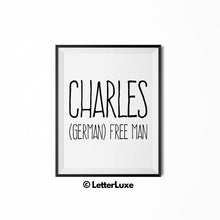 Charles Printable Kids Gift - Birthday Gift Download