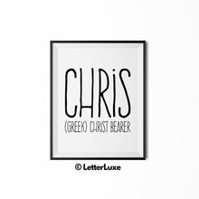 Chris Name Meaning Bedroom Decor - Birthday Party Decoration Idea - LetterLuxe