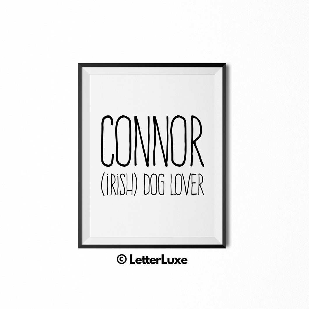 Connor Name Meaning Bedroom Decor - Birthday Party Decoration Idea - LetterLuxe